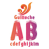 Guilloche font. Шрифт гильош.